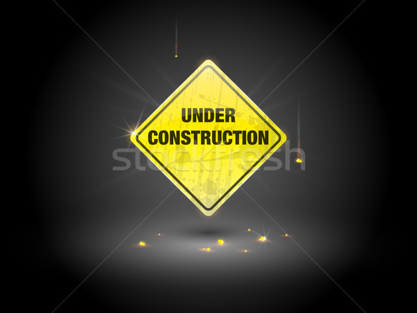 Construction signe jaune eps10 gradient transparence Photo stock © TheModernCanvas