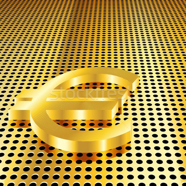 Arany Euro eps10 gradiens átláthatóság háló Stock fotó © TheModernCanvas