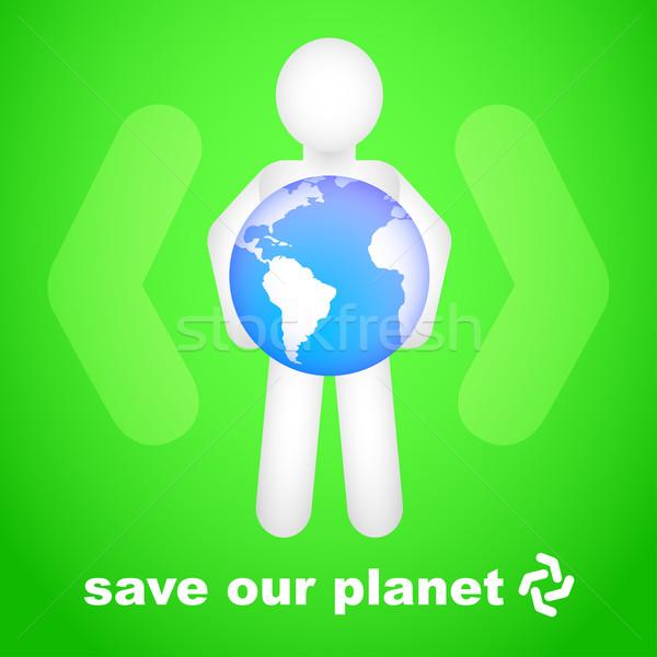 Kurtarmak gezegen eps10 şeffaflık eğim soyut Stok fotoğraf © TheModernCanvas