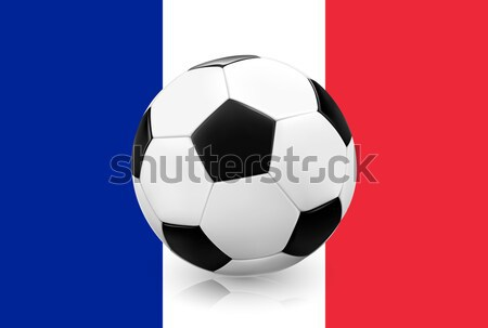 Realistic soccer football on Russian flag background. Stock photo © TheModernCanvas