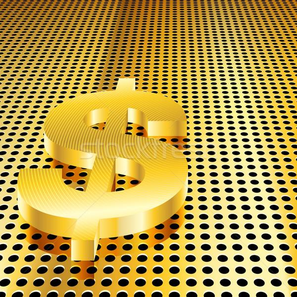 Arany dollár eps10 gradiens átláthatóság háló Stock fotó © TheModernCanvas