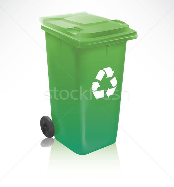 Modern zöld újrahasznosít tároló valósághű izolált Stock fotó © TheModernCanvas