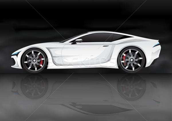 Gerçekçi vektör spor araba benim kendi dizayn Stok fotoğraf © TheModernCanvas