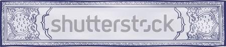 Azul blanco sitio web dibujado a mano patrones Foto stock © Theohrm