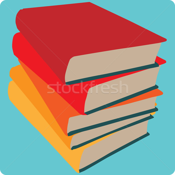 Book Stack Icon Stock photo © Theohrm