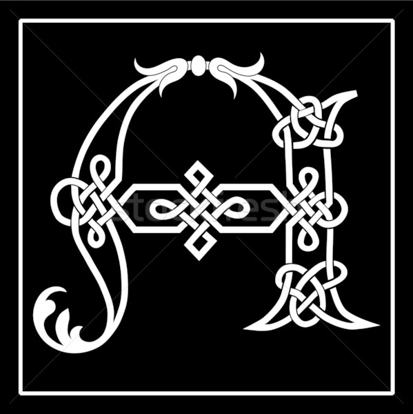 Celtic Knotwork A Stock photo © Theohrm