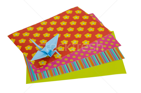 Isolated Origami Crane Stock photo © Theohrm