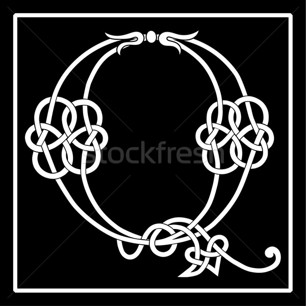 Celtic Knot-work Q Stock photo © Theohrm