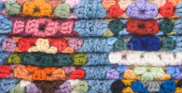 Knitted Crochet Squares Stock photo © Theohrm
