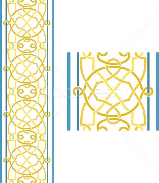 Celtic grens naadloos werk frame patroon Stockfoto © Theohrm