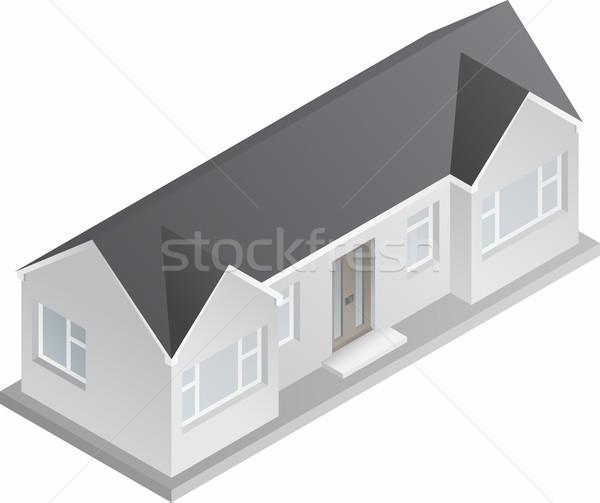 3D isométrique bungalow dessin doubler histoire Photo stock © Theohrm