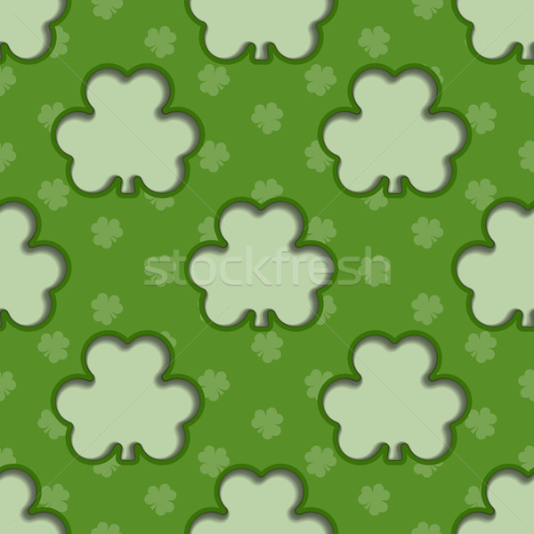 St Patrick's Day Shamrock Background Stock photo © Theohrm