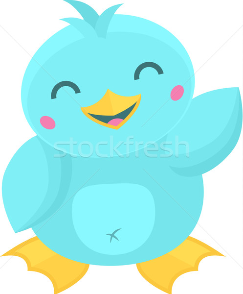 Cute cartoon kawaii style oiseau Photo stock © Theohrm