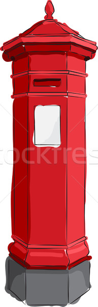 Sketched Red Postbox Stock photo © Theohrm