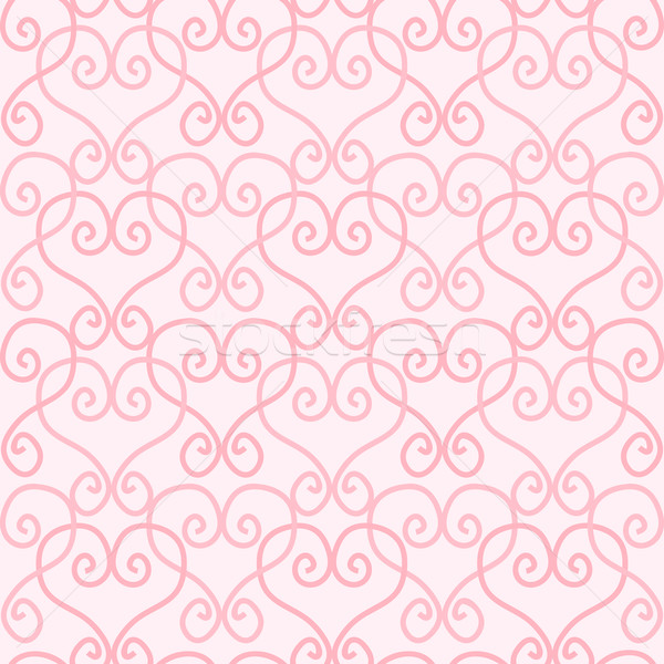 Seamless Linked Heart Background Stock photo © Theohrm