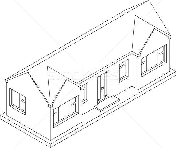 3d Isometric Bungalow  Stock photo © Theohrm