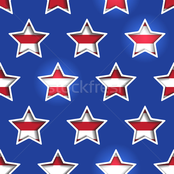 Stars and Stripes Shadowed Background Stock photo © Theohrm
