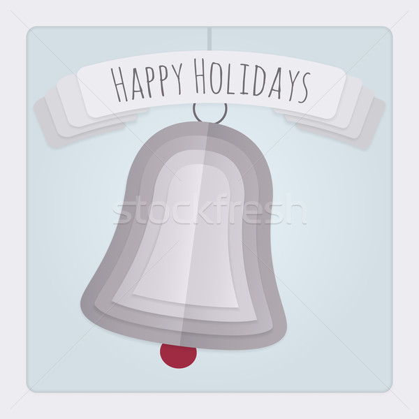 Bell Holidays Card Stock photo © Theohrm