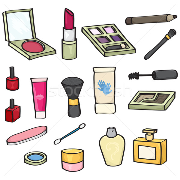 Cartoon Cosmetics Set Stock photo © Theohrm