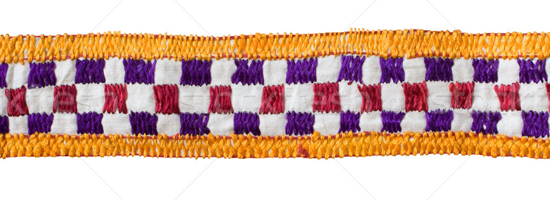 Isolated Checked Textile Border Stock photo © Theohrm