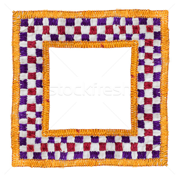 Square Isolated Textile Border Stock photo © Theohrm