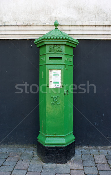 Green Irish Postbox Stock photo © Theohrm