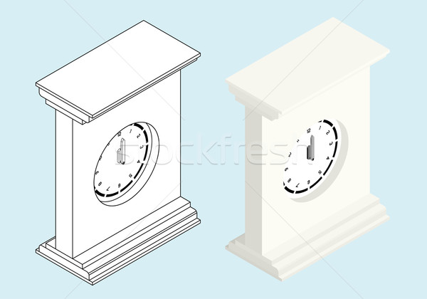 Isometric Clock Stock photo © Theohrm