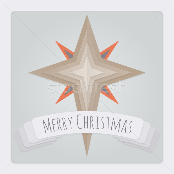 Star Christmas Card Stock photo © Theohrm