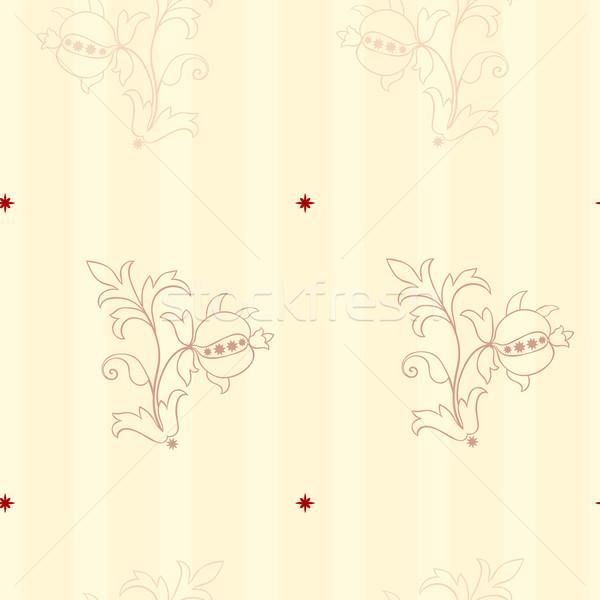 Sin costura wallpaper estilo planta flor Foto stock © Theohrm
