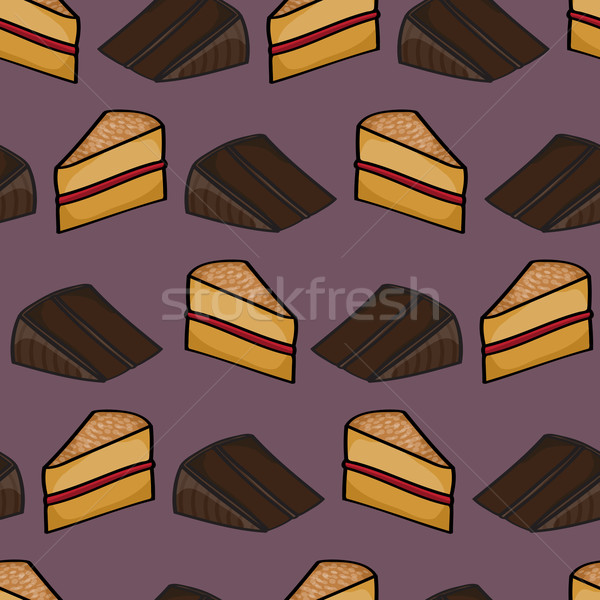 Slices of Cake Background Stock photo © Theohrm