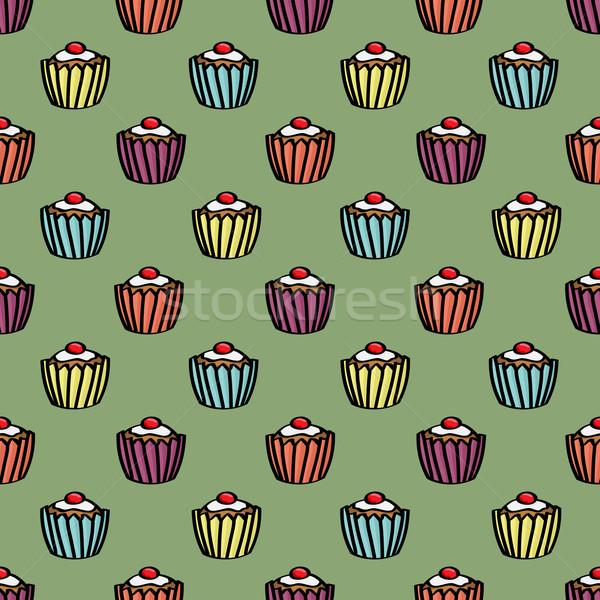 Sin costura azulejo Cartoon Foto stock © Theohrm