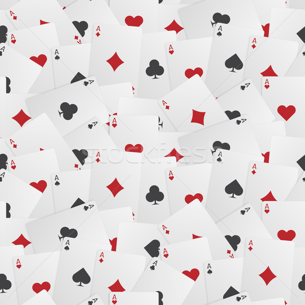 Seamless Playing Card Background Stock photo © Theohrm