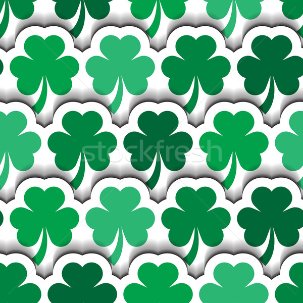 St Patrick's Layered Shamrocks Background Stock photo © Theohrm