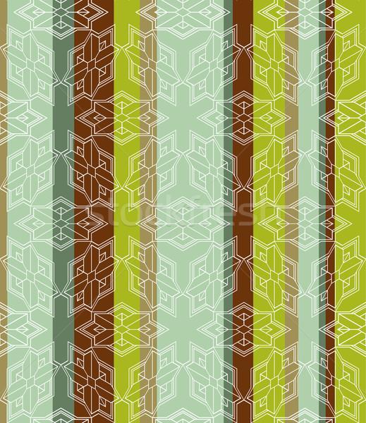 Geométrico a rayas sin costura azulejo 3D arte Foto stock © Theohrm