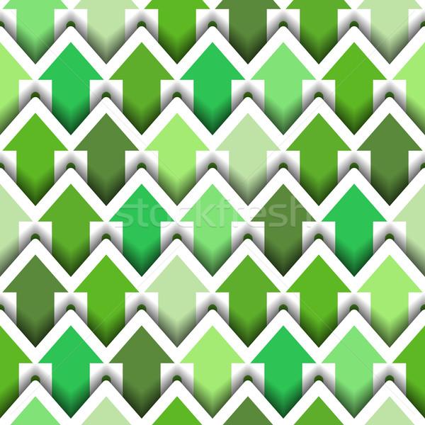 Verde flechas sin costura moderna azulejo senalando Foto stock © Theohrm