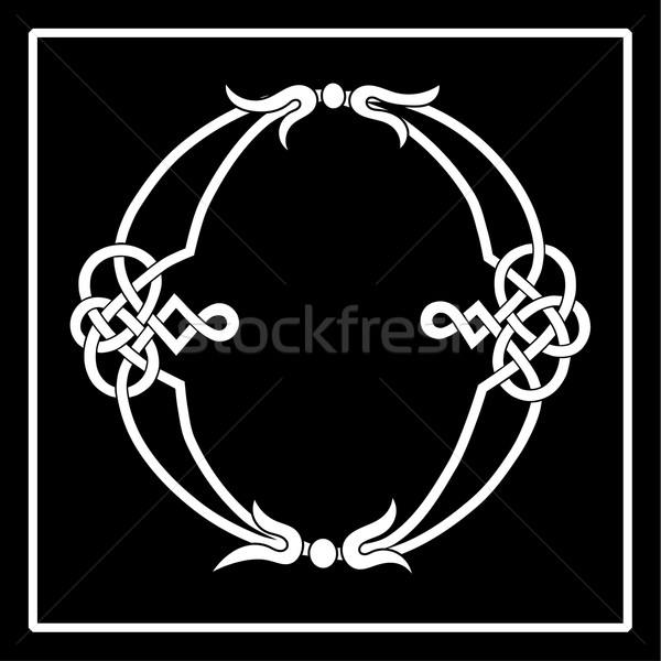 Celtic Knot-Work O Stock photo © Theohrm