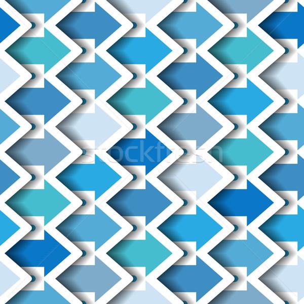 Azul flechas sin costura moderna azulejo senalando Foto stock © Theohrm