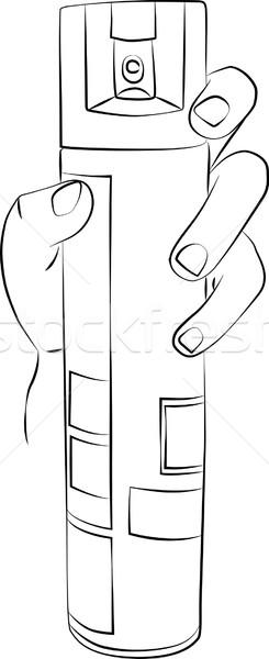 Uçmak sprey çizim el can Stok fotoğraf © Theohrm