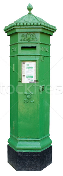 Isolated Green Irish Postbox Stock photo © Theohrm