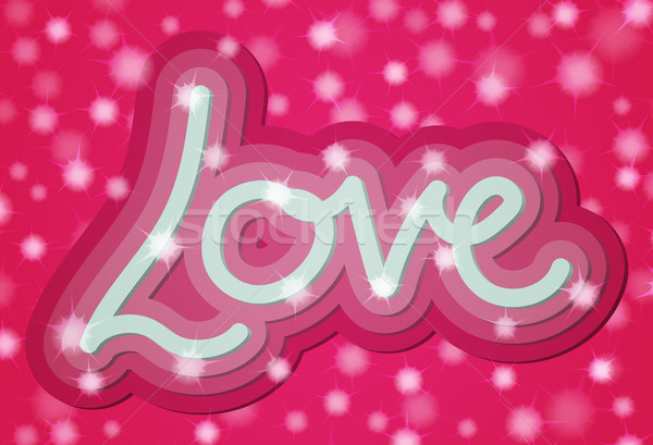 Valentine 3d Love Word Card Stock photo © Theohrm