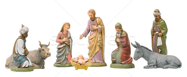 Nativity Set Isolated Stock photo © Theohrm