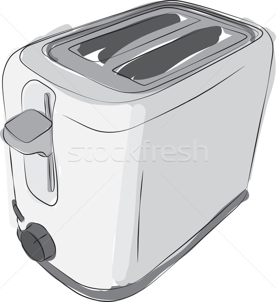 Sketched Toaster Stock photo © Theohrm