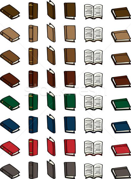 Set of Cartoon Books Stock photo © Theohrm