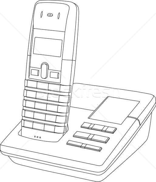 Telephone Line Drawing Stock photo © Theohrm