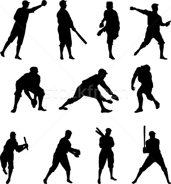 Baseball Player Silhouette – Set Two Stock photo © Theohrm