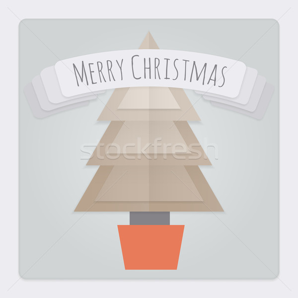 Christmas Tree Card Stock photo © Theohrm