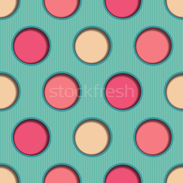 3d Dots Seamless Background Stock photo © Theohrm