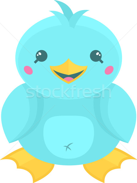 Cute Cartoon Bird Stock photo © Theohrm