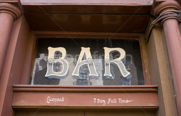 Bar Sign  Stock photo © Theohrm