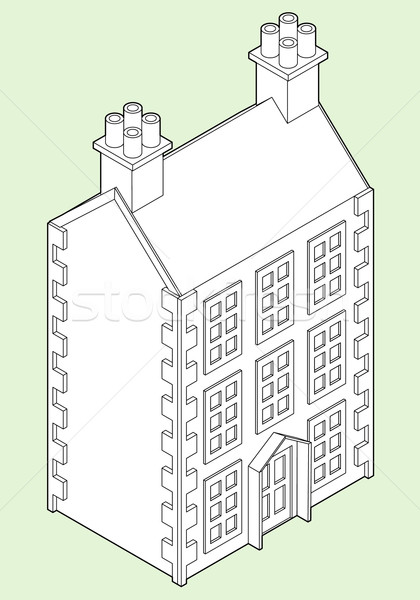 Isometric Dolls House Drawing Stock photo © Theohrm